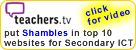 Teachers TV put the Shambles website in the top ten Videos for Secondary ICT (Jan 2009).