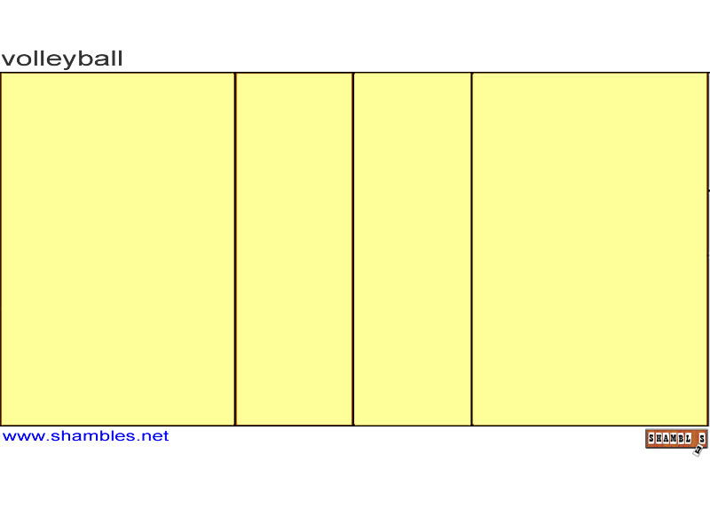Printable Volleyball Court Diagram Blank Not Lossing Wiring Diagram
